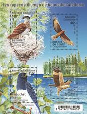 caledonia 2017 caledonie birds prey oeprey Harrier of Gould Emouchet ms 4v mnh