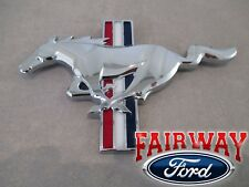 15 thru 17 Mustang OEM Ford California Special Chrome Tri-Bar Pony Grille Emblem
