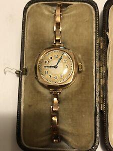 Vintage James Weir Gold Ladies Watch Antique Working Rare