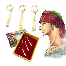 One Piece Roronoa Zoro Ear Clip Earrings Metal Pendant