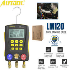 Autool Refrigeration Digital Manifold Gauge Meter Hvac Temperature Test Tool