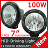 """2PCS 100W 7"""" HID XENON DRIVING LIGHT Flood BEAM OFF ROAD LAMP OFFROAD 7 inch"""
