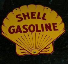SHELL Oil / Gas Porcelain Advertising Sign....DIECUT SHAPE