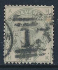 1884 GB QV 5d DULL GREEN USED SG193 LETTERS 'HK'