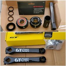 GT Power Series Cranks 175mm Black Ops FREE 22mm American BB dyno old school bmx