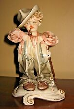 Vintage Tiziano Galli Porcelain Just Like Dad Boy Clothes Cards Figurine Italy