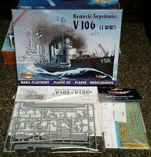 Mirage Hobby German WWI Torpedo Destroyer V-106 1/400. Unbuilt model in box.