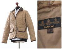 Women's BARBOUR Quilted Quilt Jacket Coat Beige Size UK 12 US 8