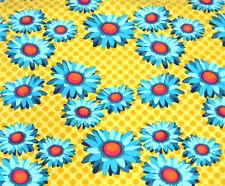 Michael Miller Flora Fauna Daisy Dots Mustard Fabric BHY