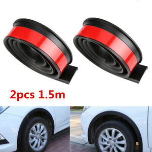 40mm Car Fender Flares Lip Trim Black Rubber Wheel Arch Panel Protector 2x 1.5M