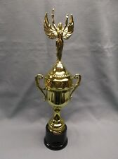 "decorative gold  victory CUP trophy award round black base 15"" size"