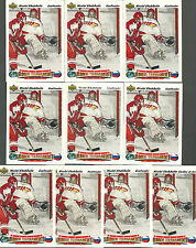 (10) NIKOLAI KHABIBULIN RC LOT 91-92 UPPER DECK #652 JUNIOR TOURNAMENT