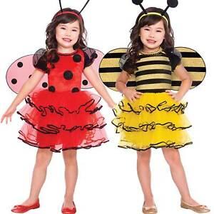 Childs Bumblebee Ladybird Tutu Fancy Dress Costume Book Week Day Girls Kids
