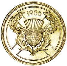 1986 £2 COIN COMMONWEALTH GAMES SCOTLAND 2 POUND SCOTTISH THISTLE EDINBURGH xx