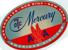 Los Angeles to New York Non-Stop ~AMERICAN AIRLINES MERCURY~ Luggage Label/Decal