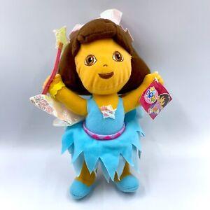 "Nanco Dora the Explorer Fairy Wings 10"" Plush Doll Toy Nickeloeon w/ Tag 2007"