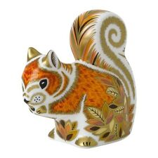 Royal Crown Derby Porcelain Animal Paperweight Autumn Squirrel
