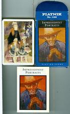 """Sealed Deck, Piatnik """"Impressionist Portraits"""" cards, Excellent condition"""