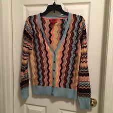 Missoni For Target Knit Cardigan Zig Zag Chevron Multicolor Size M