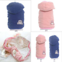 Dog Cat Coat Jacket Pet Hoodie Clothes Winter Apparel Clothing Puppy Costume New