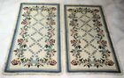2 X Arraiolos rug embroidered with wool of Portuguese origin