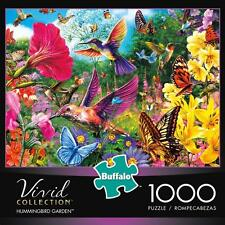 BUFFALO GAMES PUZZLE THE VIVID COLLECTION HUMMINGBIRD GARDEN 1000 PCS #11708