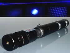 ⚠ Fokussierbarer starker Laserpointer Blau - Violett / 405 nm / Akku / starcap