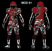 New 11 American Football Uniforms set customised with your logo and colour