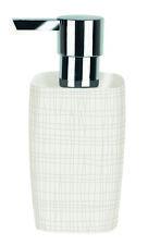 Spirella Structured White Stone Soap Lotion Dispenser Bathroom Accessory Ceramic