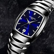 Watch Stainless Steel Date Wristwatch Men Women Quartz Analog Digital Waterproof