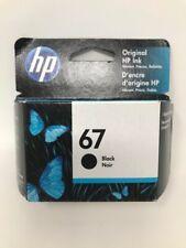 NEW Genuine HP 67  Black Printer Ink Cartridge 3YM56AN OEM Exp 2022