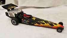 "Tonka Wildfire Dragster black plastic car. 9"" #178. (9D)"