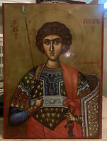 Saint George Greek Orthodox Wooden Icon 8x10 (ACME ICONS)