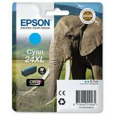 Epson 24XL Elephant Cyan Ink Cartridge, T2432 C13T24324010 XP-750 XP-850 XP-950