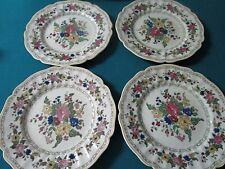 "ROYAL DOULTON 1920s 4 DINNER PLATES, ""THE CAVENDISH"" PATTERN, 8"" [a4-1*]"