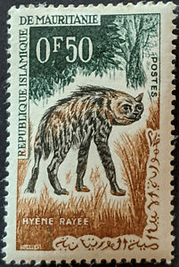 Stamp Mauritania SG165 1963 0.50Fr Animals - Hyena Used
