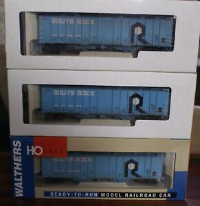 Walthers 3-Pack 50' Airslide Hoppers RI Rock Island CRI&P Weathered