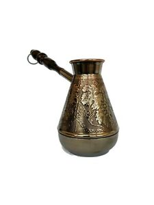 CEZVE Turkish Armenian COFFEE POT MAKER CEZVE IBRIK Jezve Turka Copper 380 ml