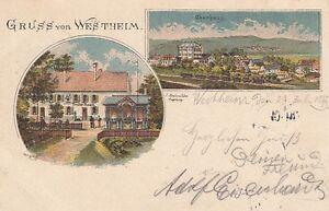 Postcard Bavaria 8902 Gruß From Westheim 1897