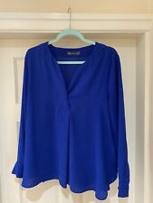 Ladies Blouse - M&S Collection Electric Blue Long Sleeved Blouse Size UK 18