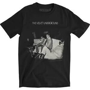 Velvet Underground Men's Self-Titled Slim Fit T-shirt Large Black