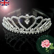 Wedding Bridal Bridesmaid Flower Girls LOVE crystal tiara crown / headband