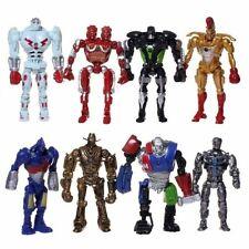 13cm 8pcs/set Real Steel Zeus Atom Midas Adam Duracell Raider Robot Model Toys