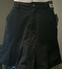 Skirt Girls School Uniform Pleated Scooter with Shorts Navy Blue Size 14- NWT