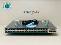 Cisco WS-C3560X-48P-L • 48-Port 3560X PoE Gigabit Switch ■COMES WITH C3KX-NM-1G■