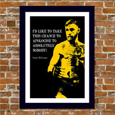 CONOR MCGREGOR FRAMED PRINT WITH QUOTE!