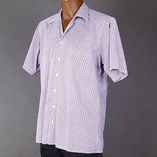 Karierte klassische Kurzarm Herrenhemden mit Button-Down-Kragen Olymp