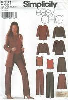 Simplicity 5921 Misses'/Miss Petite Jacket, Top, Pants and Skirt  Sewing Pattern