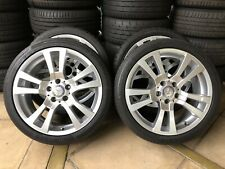 "(2007-2014) 18"" GENUINE OEM MERCEDES BENZ C-CLASS C250 W204 WHEELS & 99% TYRES"