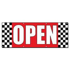 Open Auto Body Shop Car Repair Banner Sign 2 ft x 4 ft /w 4 Grommets
